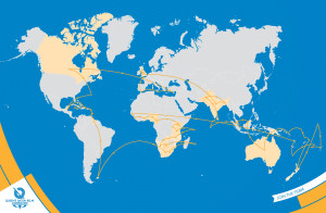 route for queen's baton relay