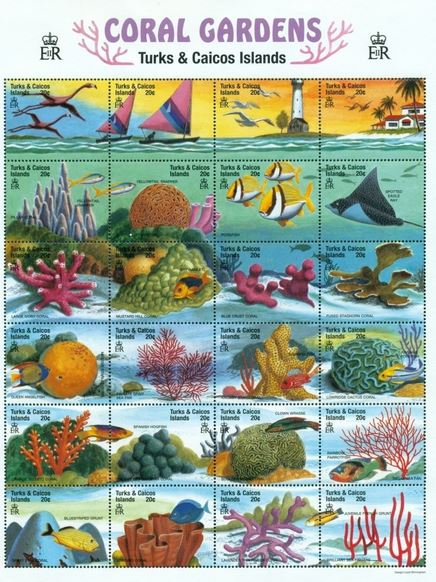 Fish Stamps Turks And Caicos