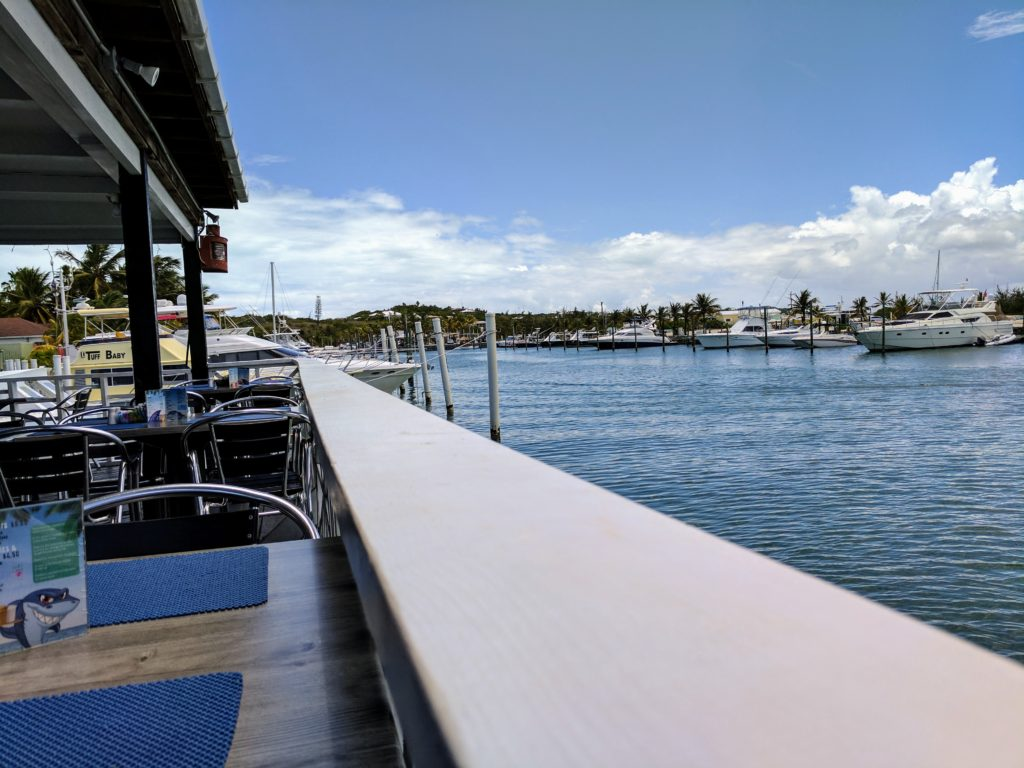 view from sharkbite bar and grill providenciales