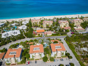 aerial of Grace Bay hotels